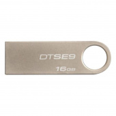 Флеш-память Kingston DataTraveler SE9 16 Gb USB 2.0 серебристая
